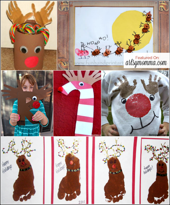 Handprint Rudolph Crafts for Kids