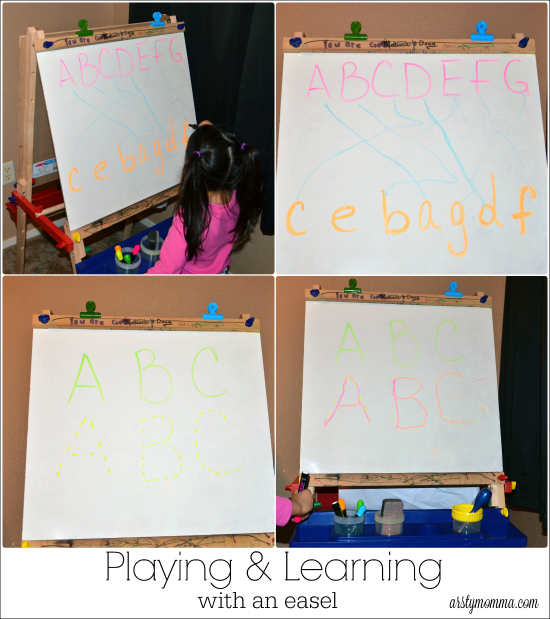 Playing and Learning Activities with an Easel