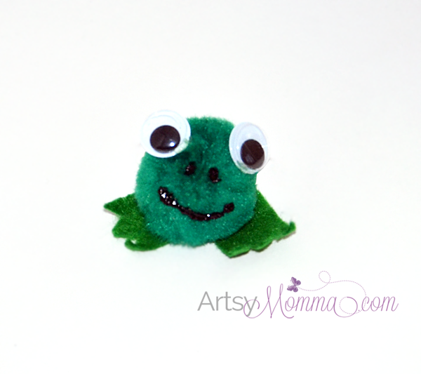 Pom Pom Frog Craft for Kids