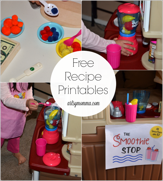 Preschool Activity: Pretend Play SMoothie Restaurant