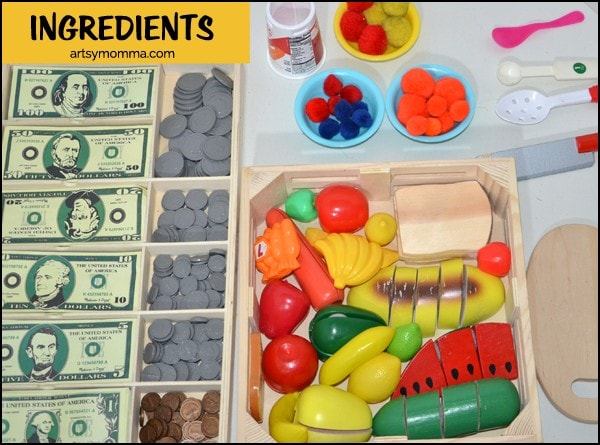 Pretend Play Smoothie Ingredients