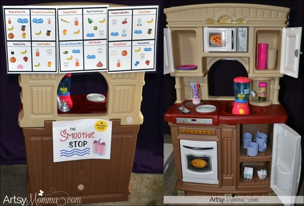 Pretend Smoothie Cafe for Dramatic Play