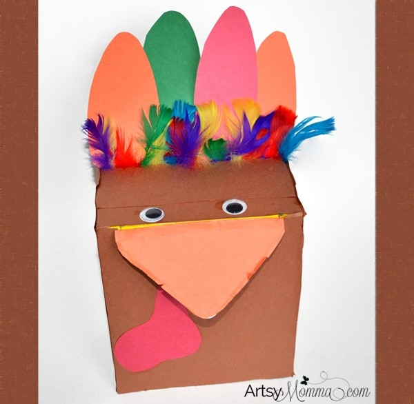 Recycled Box Turkey Craft