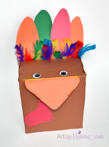 Recycled Craft: Make a Box Turkey - Many uses!