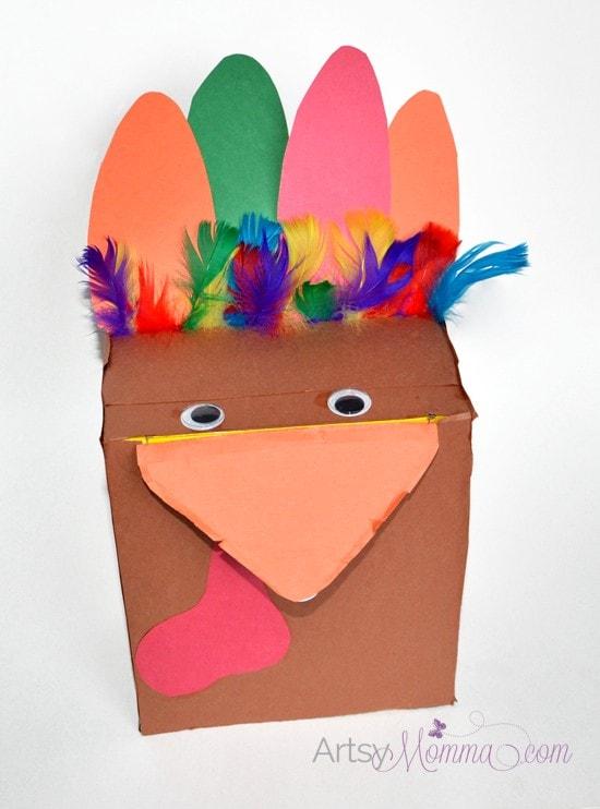 Recycled Craft: Make a Box Turkey - Many uses!