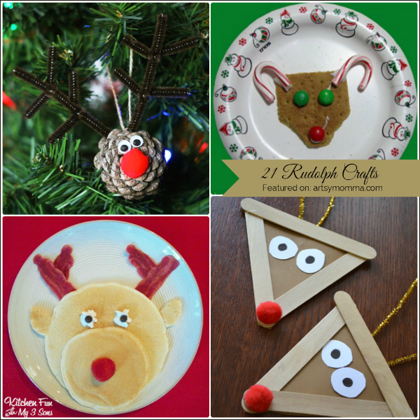 Rudolph Crafts for Kids including fun food ideas