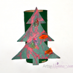 Cardboard Tube Christmas Tree Craft for Kids