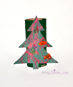 Make a Christmas Tree Craft using a Cardboard Tube!