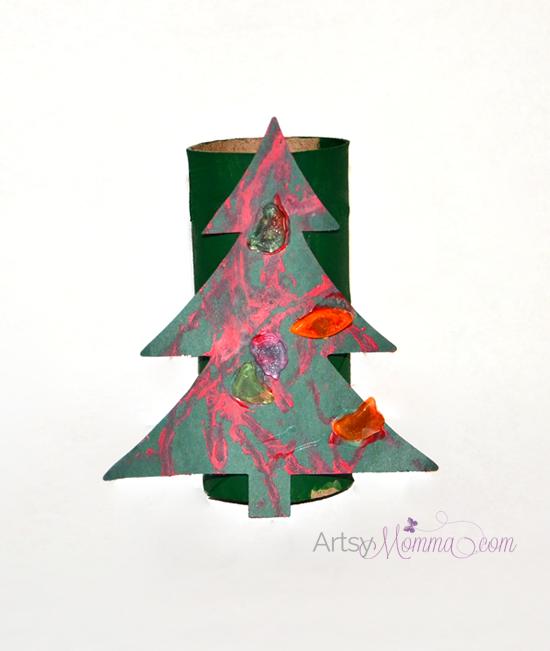Make a Christmas Tree Craft using a Cardboard Tube!