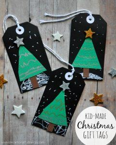 Kid-made Christmas Gift Tags