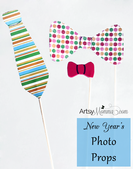 DIY Bow Tie Photo Props for New Year's