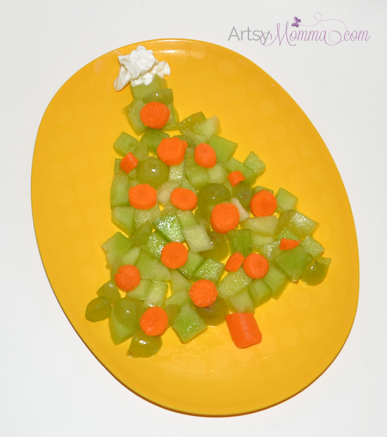 Fruit and Veggie Christmas Tree - Healthy Snack