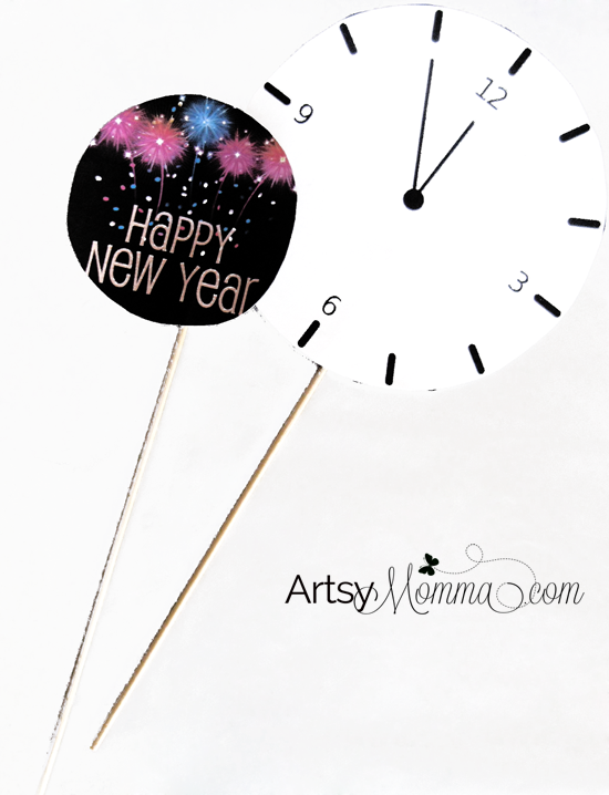 New Year's Party Photo Props DIY