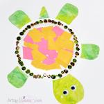 Paper Plate Animals - Turtle Craft for Preschoolers