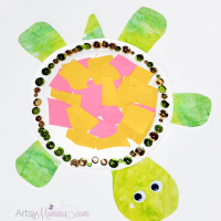 Paper Plate Animals: Turtle Craft and Scissors Practice
