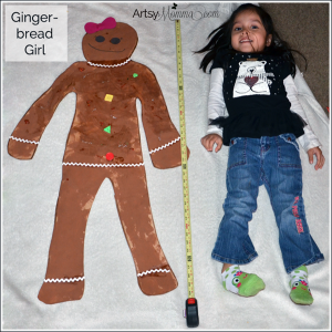 Preschool Christmas Craft: Life-sized Gingerbread Girl
