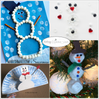 Snowman Crafts and Activities {Bewitchin' Projects Linky}
