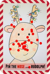 DIY Pin the Nose on Rudolph Game for Preschoolers