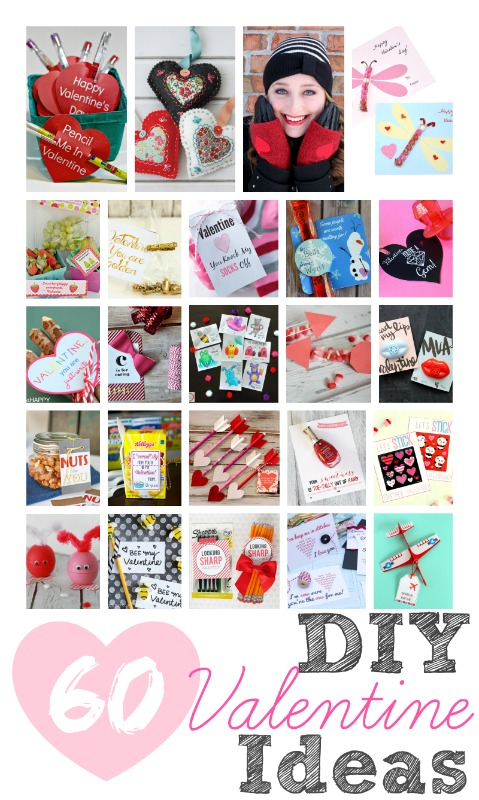 60 DIY Valentines including candy cards, printables, & more!