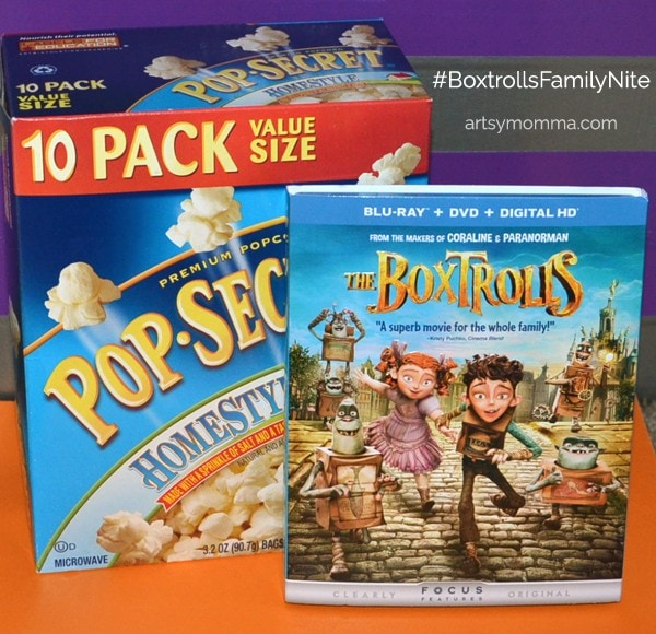 Ideas for a The Boxtrolls movie night with kids