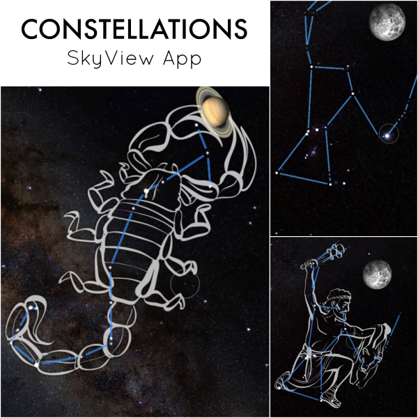 Learning about constellations crafts and activities artsy momma little sister chose to make the big dipper while big brother chose to make the scorpius constellation we learned which ones are our zodiac signs which is freerunsca Choice Image