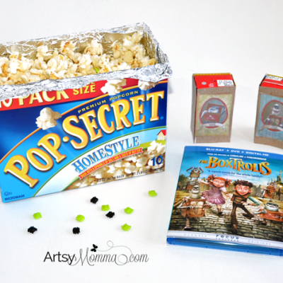 Crafts and Snack Ideas for The Boxtrolls Movie Night
