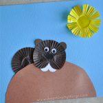 Cupcake Liner Groundhog Craft