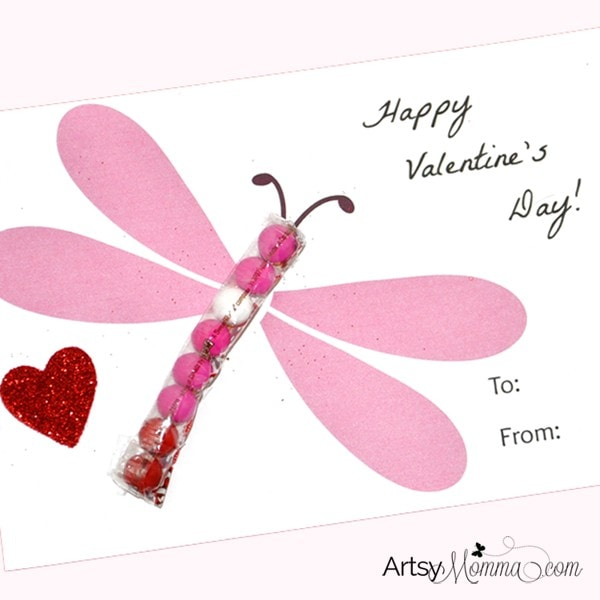 DIY Candy Dragonfly Valentine