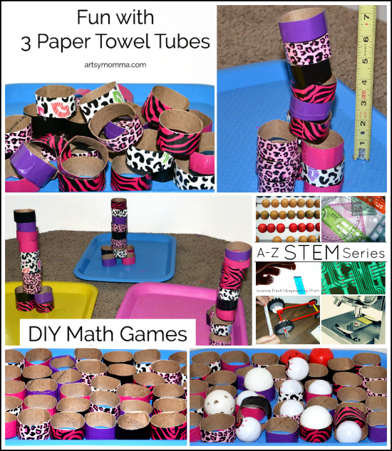 Recycled Craft: DIY Math Games For Kids