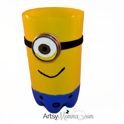 Plastic Bottle Minion Craft – Store markers in it!