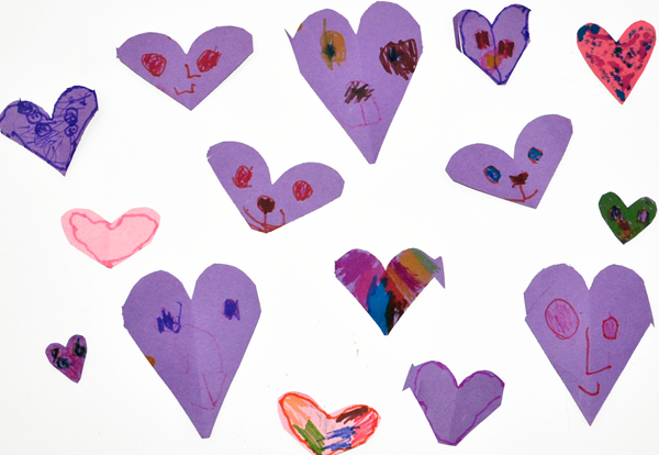 Easy Paper Heart Craft for Preschoolers
