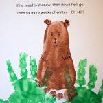 Groundhog Footprint and handprints