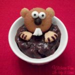 Fun Food Pudding Groundhog Dessert