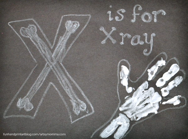 Handprint X-Ray - Letter X Craft