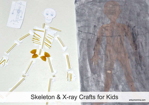 Making a Straw & Pasta Skeleton Craft