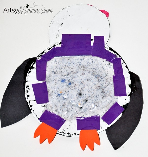 Paper Plate Penguin Sensory Play and Craft