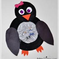 Penguin Snowglobe Sensory Craft