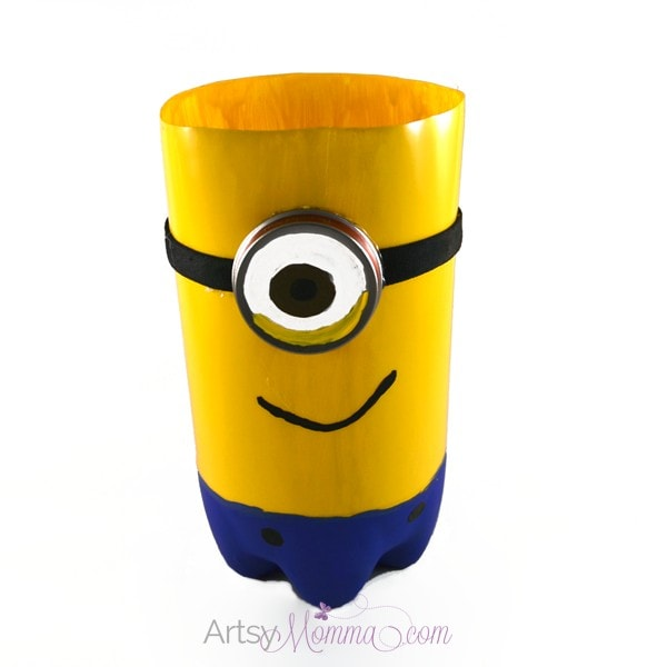 Despicable Me Minion Craft made from Plastic Soda Bottle