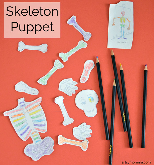 Skeleton Puppet Craft for Kids