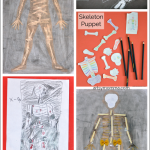 Skeleton and X-ray Crafts for Kids + a Game & Puzzle Suggestion