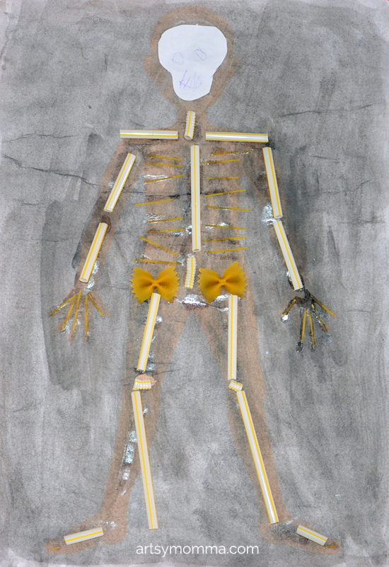 skeleton and x-ray crafts for kids - artsy momma, Skeleton
