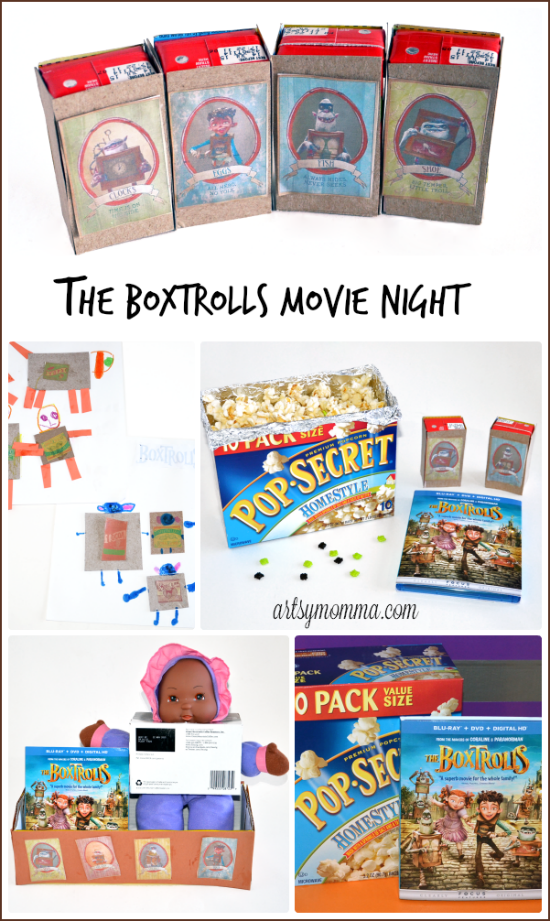 The Boxtrolls Family Movie Night game, craft, and snack ideas