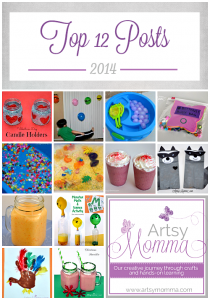 Top 12 Posts - Kids Crafts & Activities + Smoothies