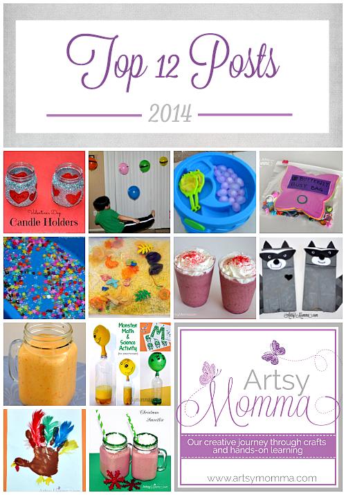 Top 12 Posts - Kids Crafts & Activities + Smoothies