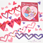 Valentine's Day Book – A String of Hearts + Paper Heart Chains