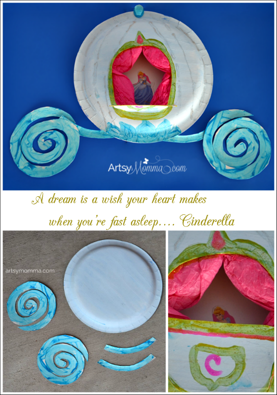 Cinderellas Carriage Paper Plate Craft