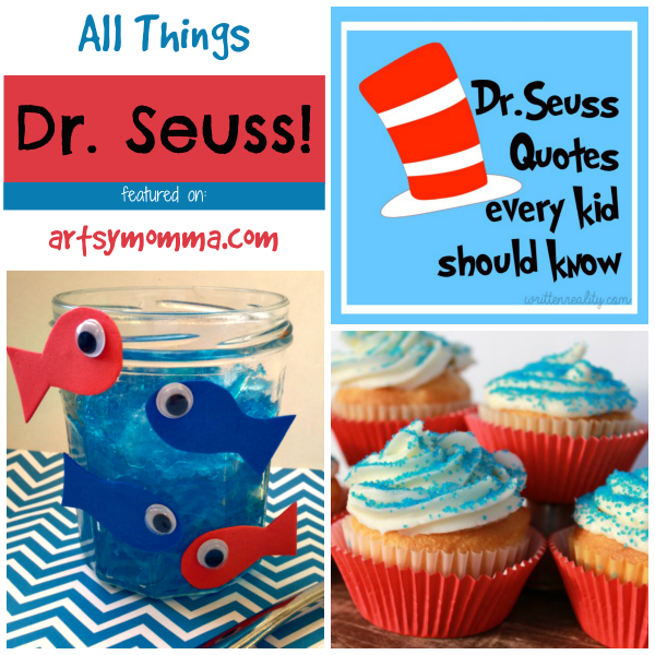 Dr Seuss Snacks and Quotes for Kids