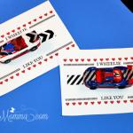 I Wheelie Like You Handprint Car Valentine copy