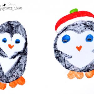 Heart Shaped Penguins - Kids Craft