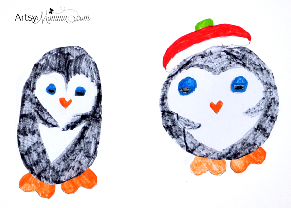 Heart Shaped Penguins - Kids Craft